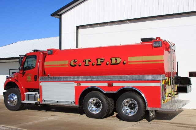 Cleveland Township Fire Department fire tank truck