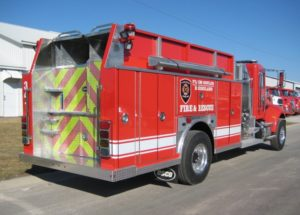 plum coulee fire department tank truck