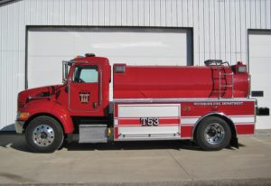 woodburn fire department fire tank truck