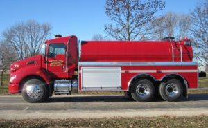 Brookings Fire Department fire tank truck