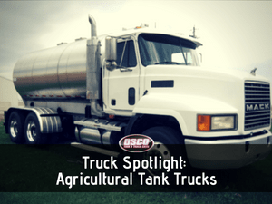 agricultural tank trucks