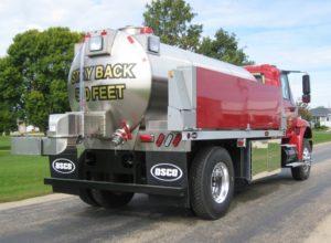 Clinton Township VFD fire tank truck