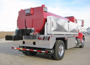 Pipestone Fire Dept. Rural Assoc. Fire tank truck