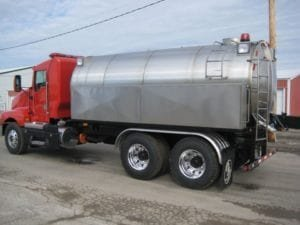 clean stainless tank