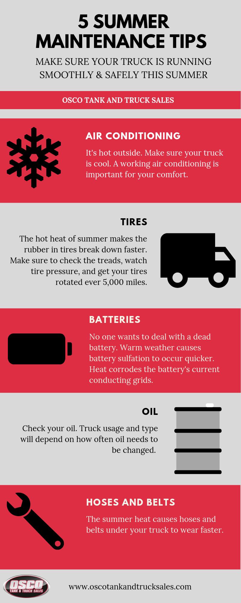 5 Summer Maintenance Tips - Osco Tank & Truck Sales