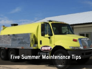 five summer maintenance tips
