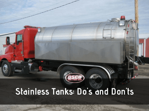 Stainless Tanks: Do's and Don'ts