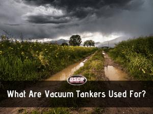 vacuum tankers uses
