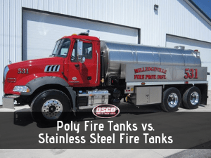 Poly Fire Tanks vs. Stainless Steel Fire Tanks