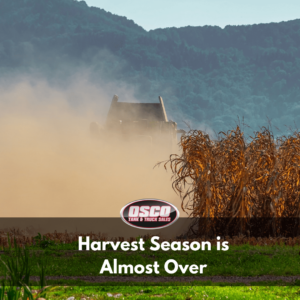 harvest season is almost over
