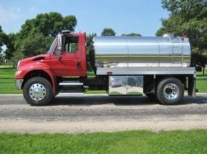 Tipton Rural Fire Protection District tank truck stainless tanks
