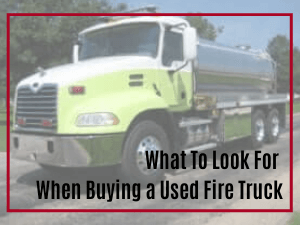 Used Fire Tanker Truck from Osco