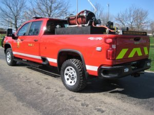 Red rapid response Responder truck from Osco Tank and Truck Sales